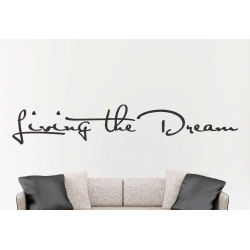 Living the Dream Wall Sticker Removable Vinyl Decal