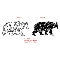 Geometric Bear Wall Sticker Vinyl Decal Removable Modern Decor