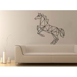 Geometric Horse Galloping Wall Sticker Vinyl Decal Removable Modern Decor