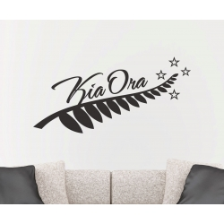 SILVER FERN Kia Ora NEW ZEALAND Maori WALL VINYL DECAL  sc 1 st  OZDECO & SILVER FERN Kia Ora NEW ZEALAND Maori WALL VINYL DECAL - OZDECO T/S ...