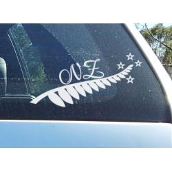 Silver Fern Sticker Decal New Zealand Car Boat Tattoo 10yrs