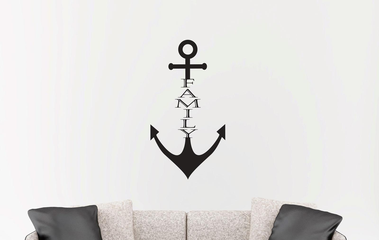 Family anchor wall sticker removable decal ozdeco ts polonaiz amipublicfo Image collections