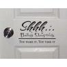 Shhh... Baby Sleeping Dreaming Wall Door Sticker Vinyl Decal Sign Nursery Decor