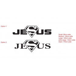 Jesus Superman Super hero Removable Wall Sticker Nursery Vinyl Decal