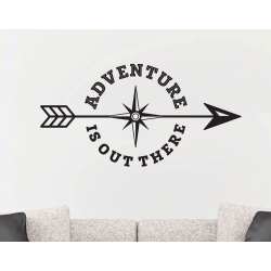 Adventure is out there Compass Steering Wheel Arrow Removable Wall Sticker Decal
