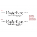 Masterpieces Every Child is Artist Pablo Picasso Wall Sticker Decal Removable