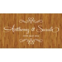Wedding Dance Floor Decal Sticker - Personalized Wall Sticker