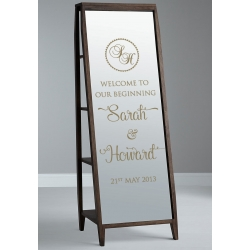 Wedding Engagement Welcome Sign Wall Mirror Sticker Removable Decal