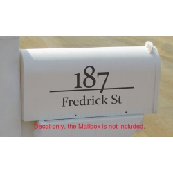 Custom Street Number Name Mailbox Sticker Vinyl Decal
