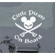 Little Pirate Mickey Mouse Baby on Board Sticker Decal Sign