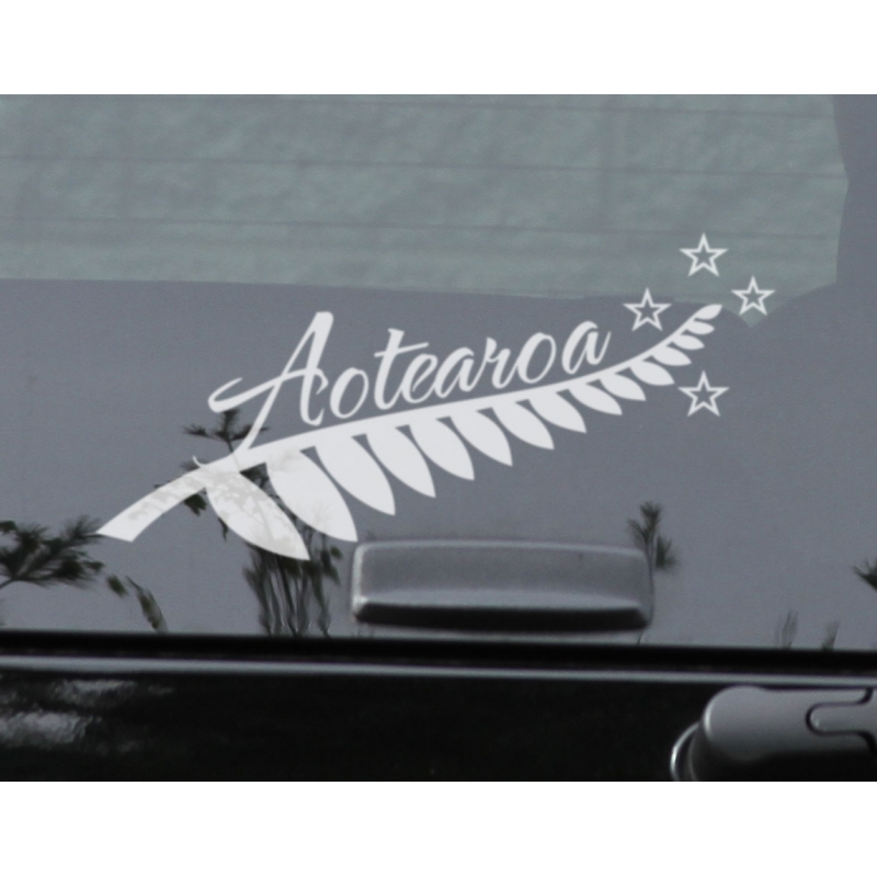 Silver fern kia ora sticker decal new zealand