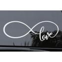 Infinite Love Forever Infinity Symbol Car Bike Boat Window Bumper Laptop Decal Vinyl Sticker