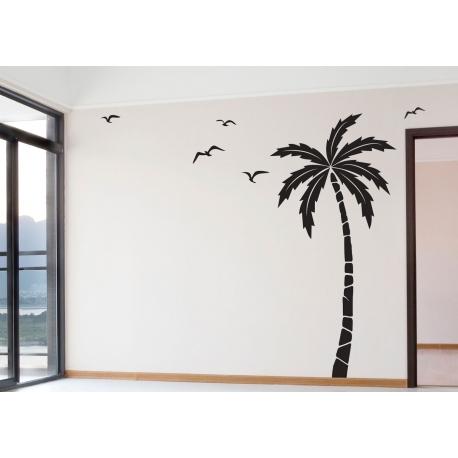 Palm Tree Decal Sticker Seagulls Birds Beach Tropical Nursery Theme