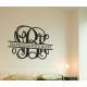 Personalized Couple Family Name Vine Monogram Wedding Gift Sticker Decal