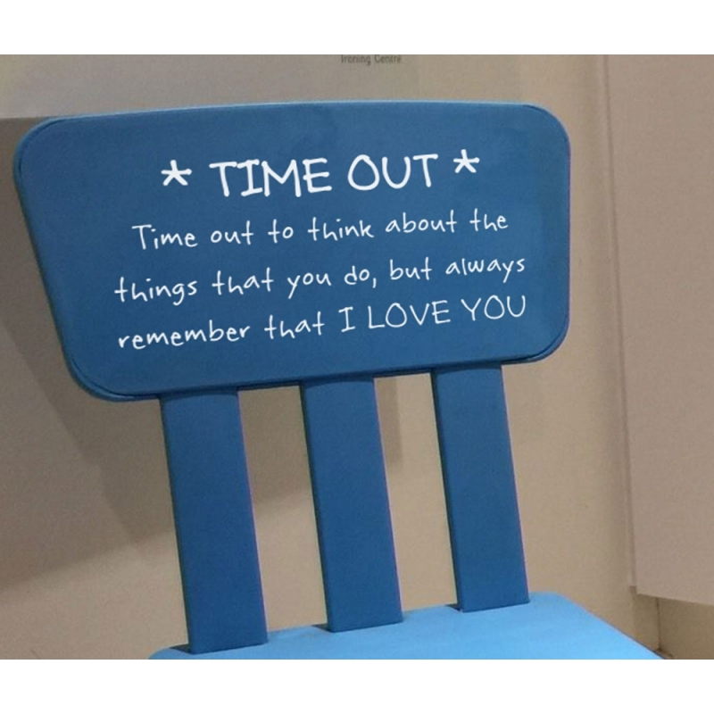 Time Out Naughty Chair Wall Sticker Vinyl Decal Nursery Toddler Kids ...