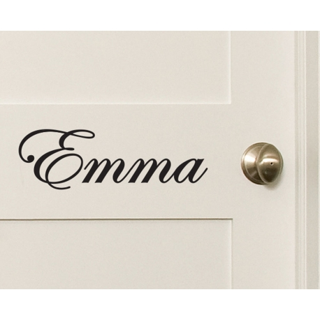Removable CUSTOM VINYL LETTERING Wall DECAL CURLY SCRIPT DECORATIVE SERIF FANCY