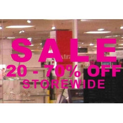 SALE xx% -xx% OFF STORE WIDE SHOP Wall Window Sign Vinyl Sticker Decal Removable