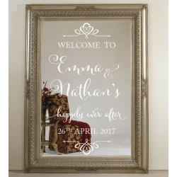 Custom Wedding Welcome Sign Decal Sticker Happily Ever After Always and Forever