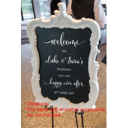 Custom Welcome to Wedding Engagement Reception Happy ever After Decal Sticker