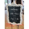 Custom Welcome to Wedding Engagement Reception Personalised Decal Sticker