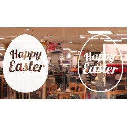Happy Easter Egg Vinyl Decal Sticker Wall Door Shop Window Party Sign Removable