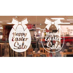 Happy Easter Sale Vinyl Decal Sticker Wall Door Shop Window Party Sign Removable