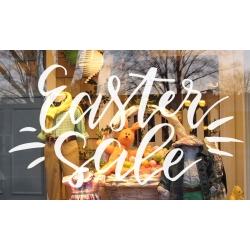 Easter Sale Vinyl Decal Sticker Wall Door Shop Window Sign Removable