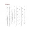 Ruler wall Vinyl decal sticker growth chart Kit DIY wooden vintage height chart