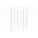 Simple Ruler wall Vinyl decal sticker growth chart for DIY wooden vintage height chart