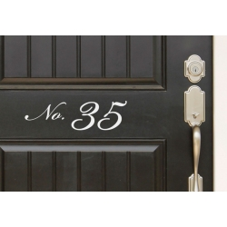 Front Door Sticker House Number Address Decal house Identification Outdoor Vinyl