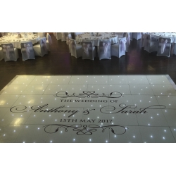 Custom Wedding Party Dance Floor Decal Sticker - Easy to Remove