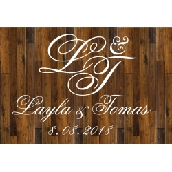 Custom Monogram Wedding Party Dance Floor Decal Sticker - Easy to Remove