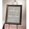 Welcome to Our Wedding Beginning Engagement Sign Wall Mirror Decal Sticker