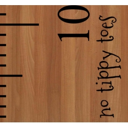 """No tippy Toes"" Growth Chart Ruler Add-On Nursery Kids Vinyl Decal Sticker"