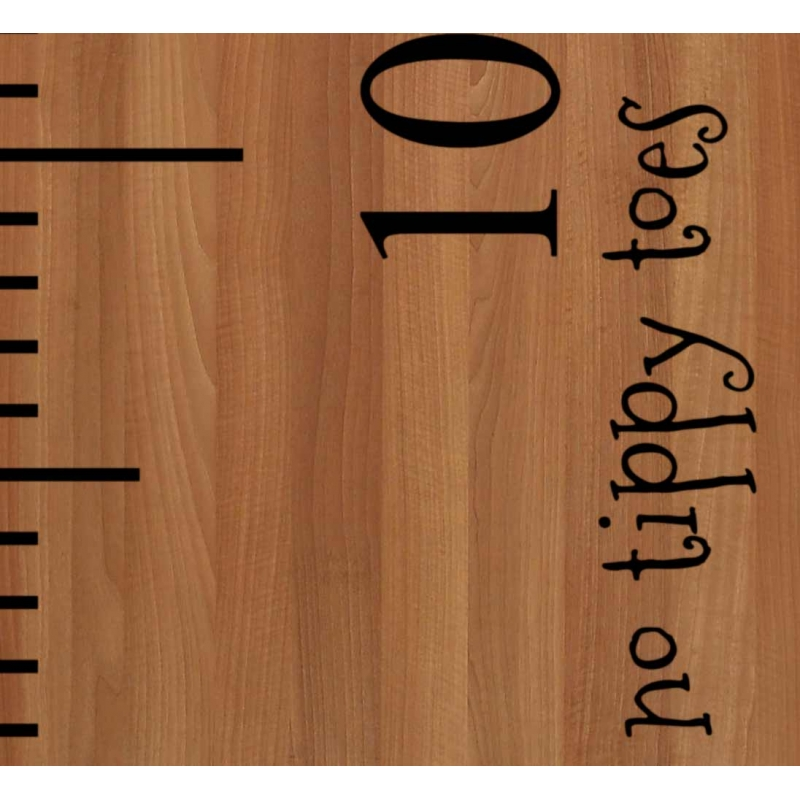 No Tippy Toes Growth Chart Ruler Add On Nursery Kids Vinyl Decal