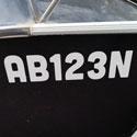 Boat Rego Number